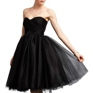 Donna Morgan Black Tulle Gown Size 6 NWT